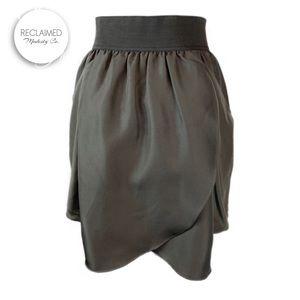 ARITZIA WILFRED Silk Tulip Skirt w/ Pocket